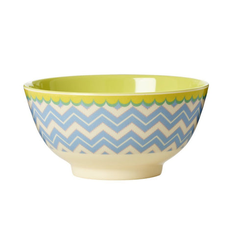 Rice Melamine Bowl - Chevron