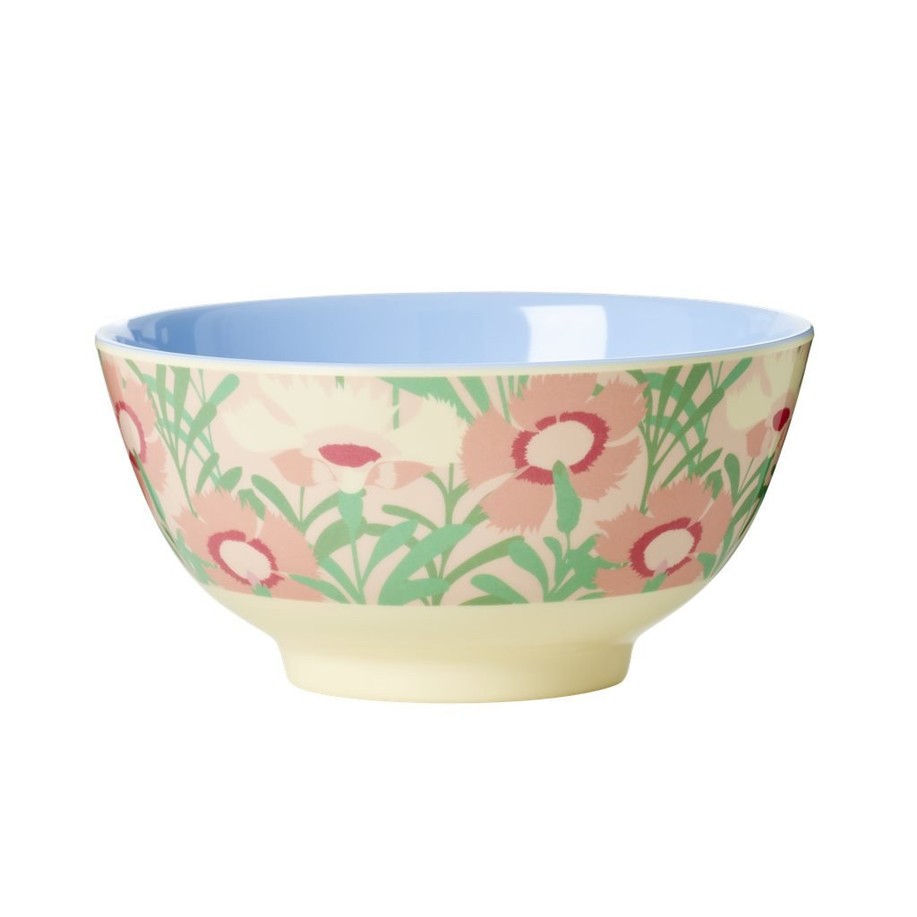 Rice Medium Melamine Bowl - Vintage Floral