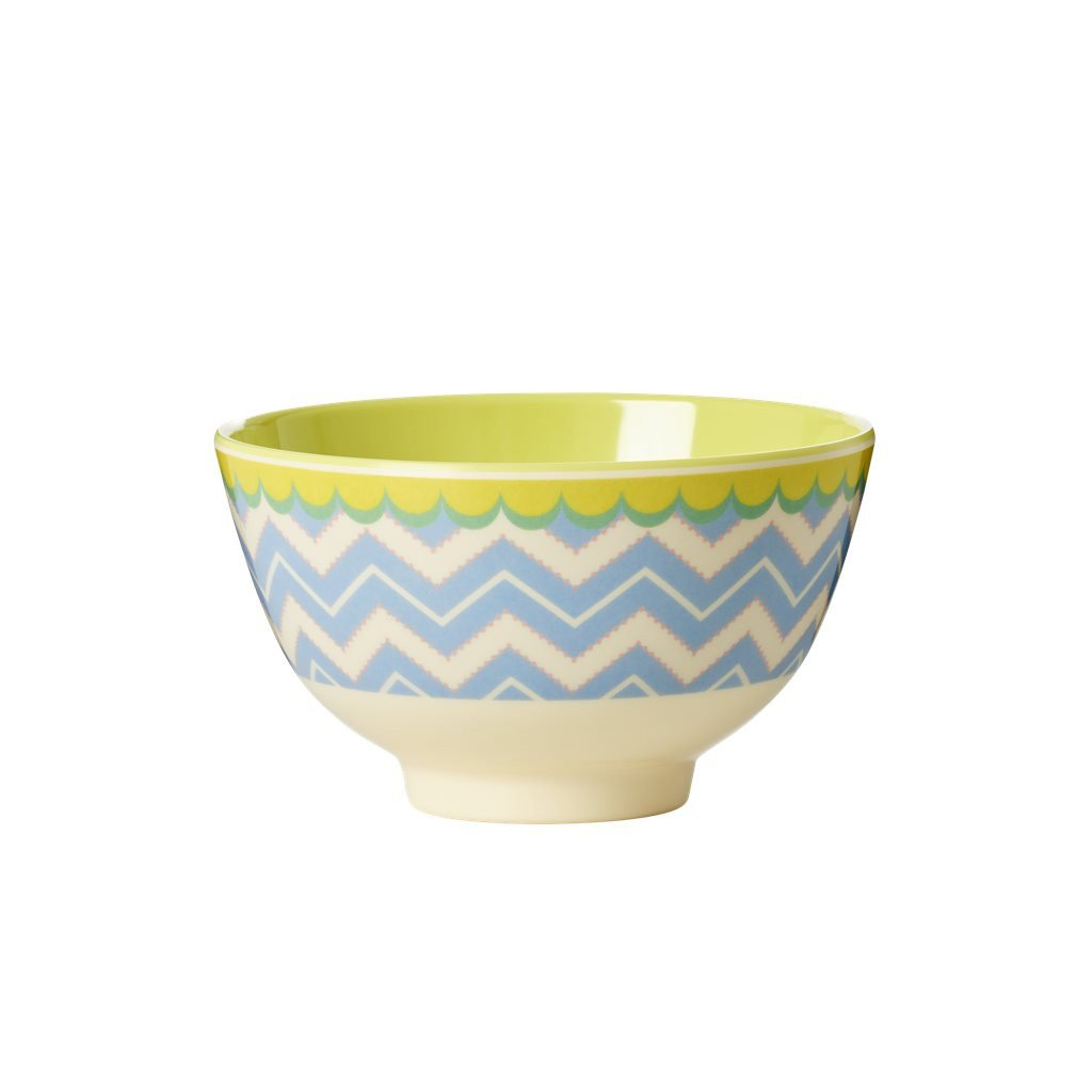 Rice Small Melamine Bowl - Chevron