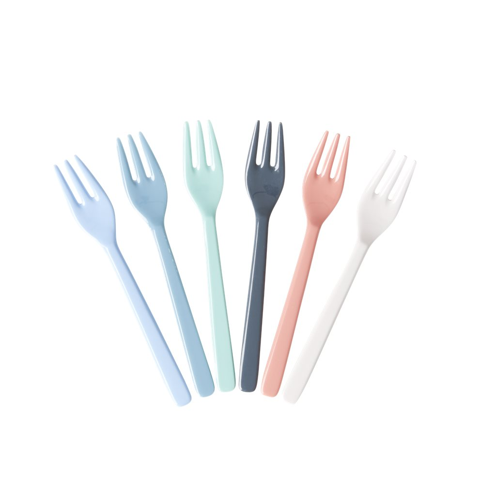 Rice Cake Forks - Colours of the Sea - Bundle of 6