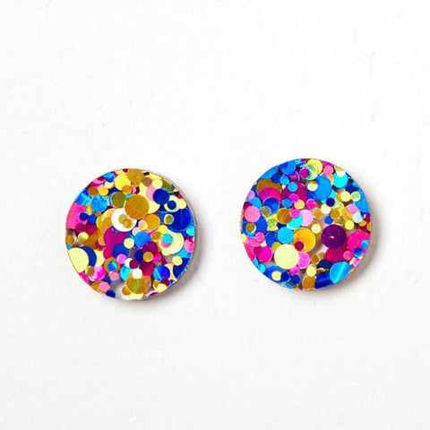 Martha Jean CMYK Circle Stud Earrings