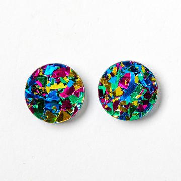 Martha Jean Harlequin Circle Stud Earrings