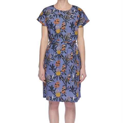 Miranda Murphy Native Flora Kimono Sleeve Dress
