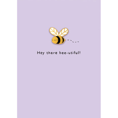 Ohh Deer Hey There Bee-utiful Card with Pin