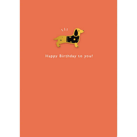 Ohh Deer Happy Birthday Sausage Dog Card with Pin