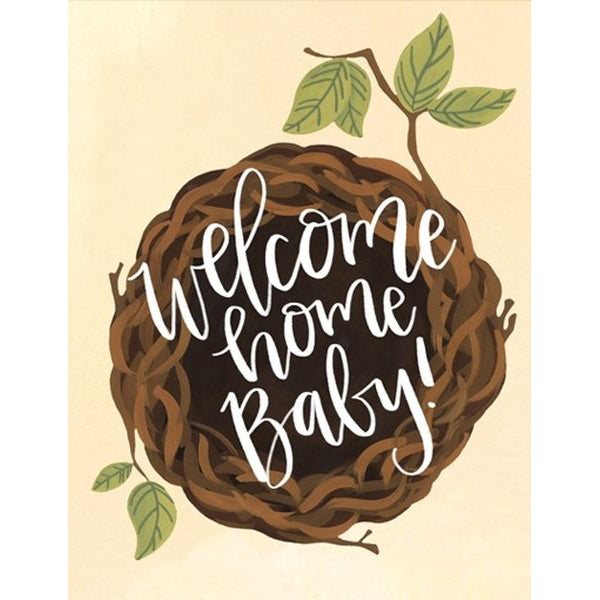 OneCanoeTwo Welcome Home Baby Nest Card