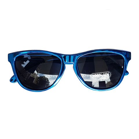 Unity Kids Retro Metallic Blue Sunglasses