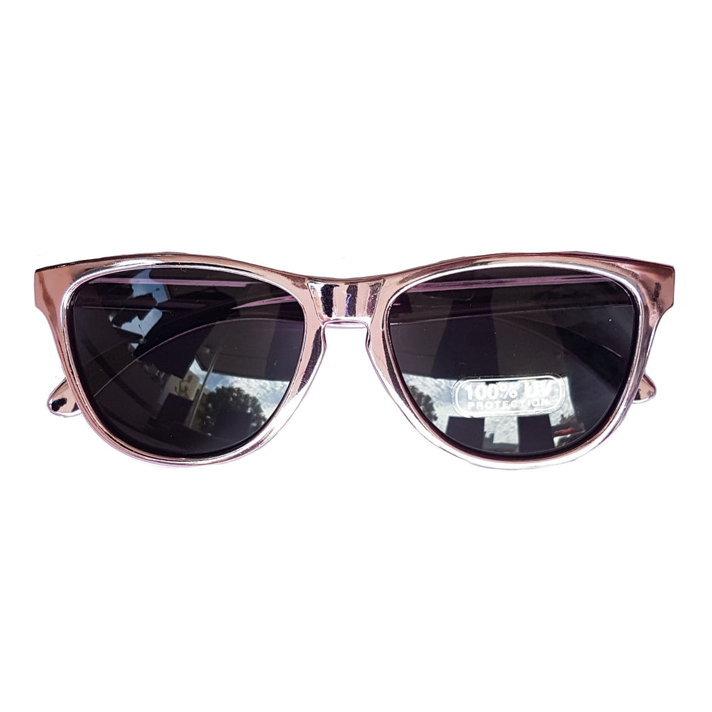 Unity Kids Retro Metallic Pink Sunglasses