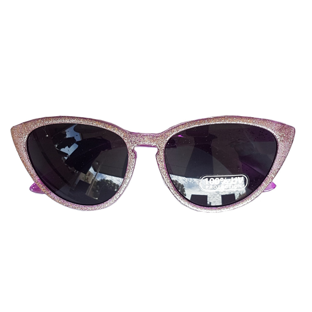 Unity Kids Purple Glitter Sunglasses
