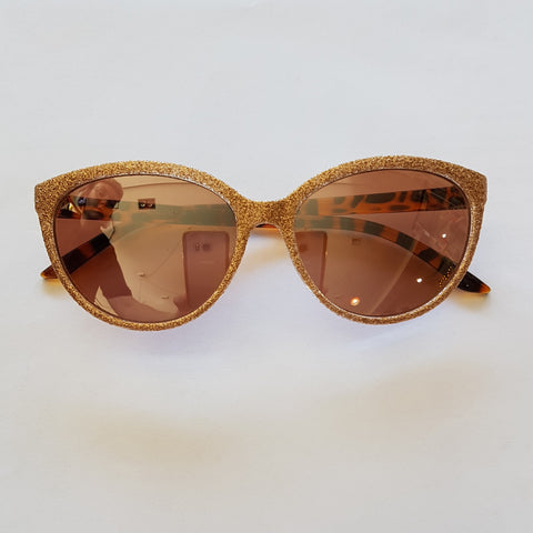 Unity Kids' Gold Glitter Sunglasses