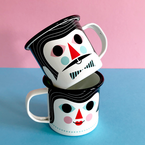 Omm Design Man & Woman Mug