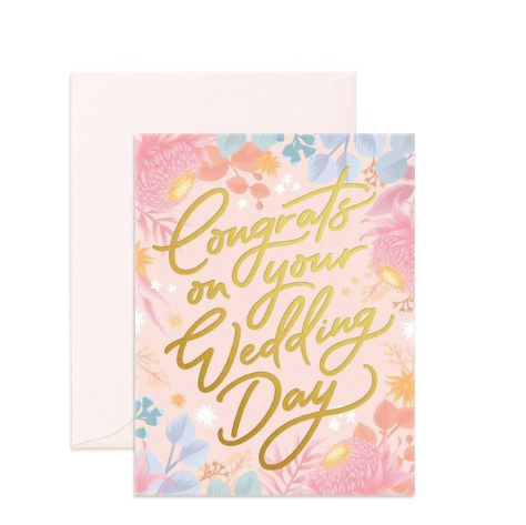 Fox & Fallow Congrats on Your Wedding Day Card