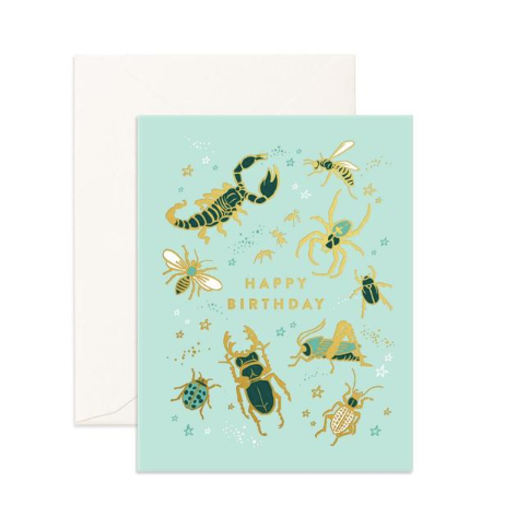 Fox & Fallow Happy Birthday Bugs Card