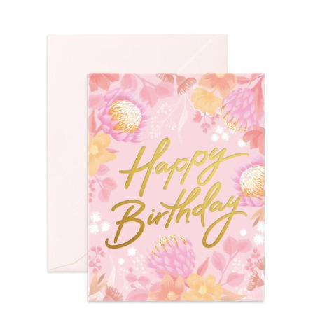 Fox & Fallow Floribunda Birthday Card