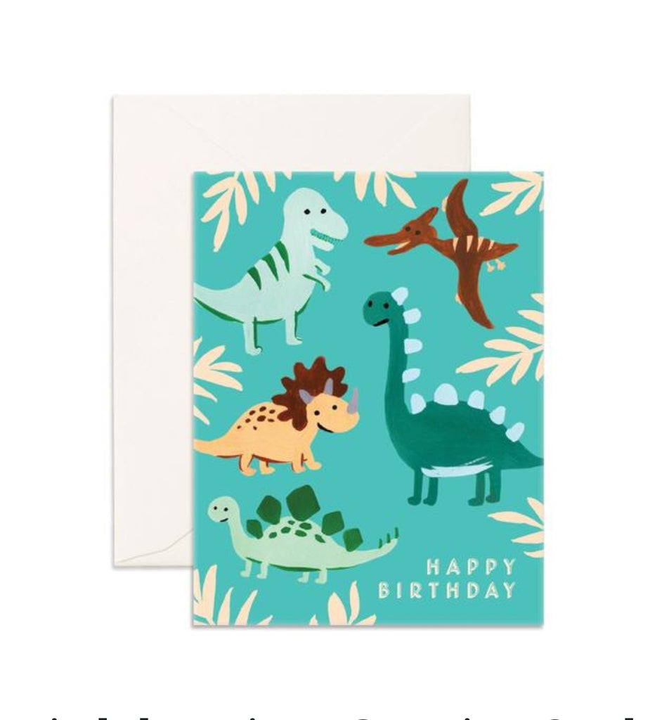 Fox & Fallow Birthday Dinosaurs Card
