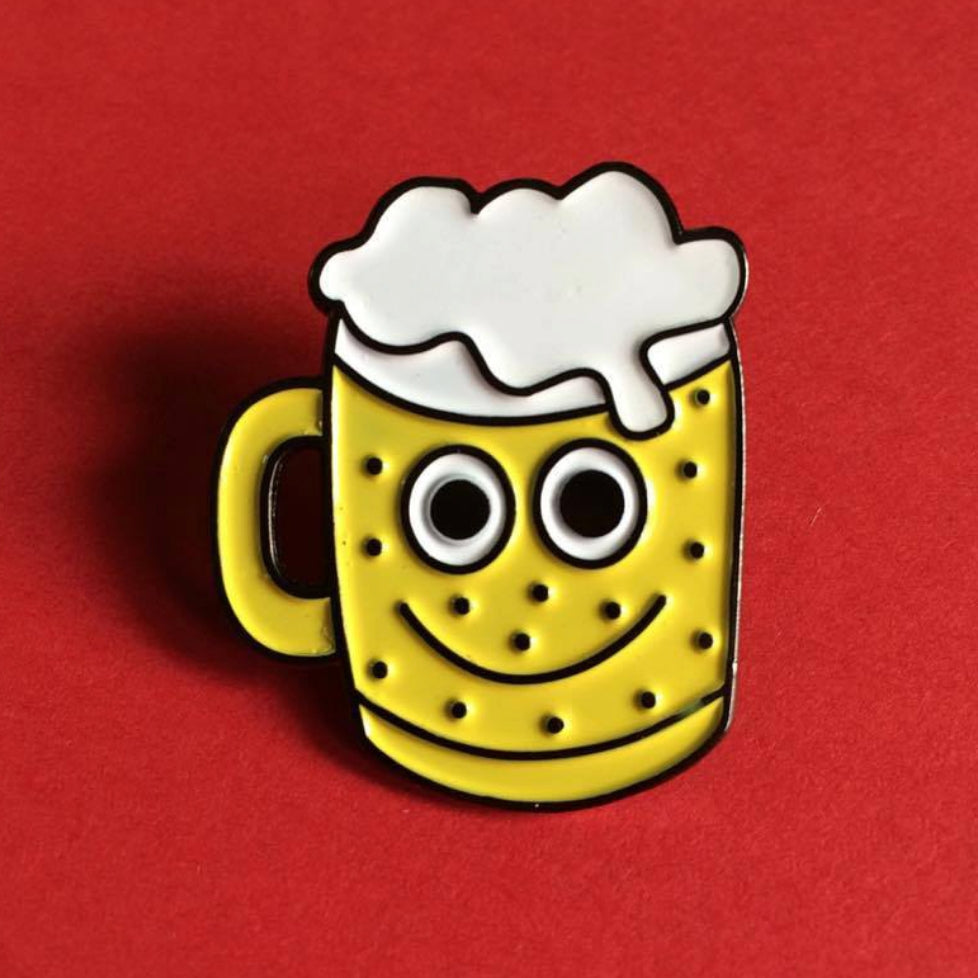 Hello Dodo Enamel Beer Pin
