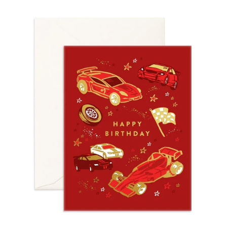 Fox & Fallow Happy Birthday Cars Card