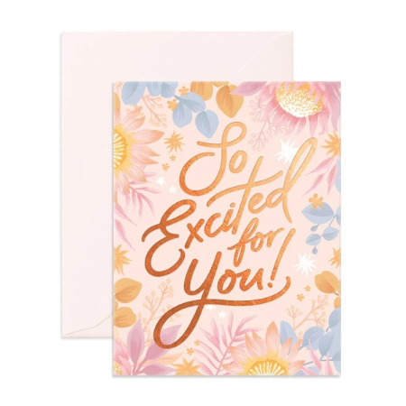Fox & Fallow So Excited For You Card