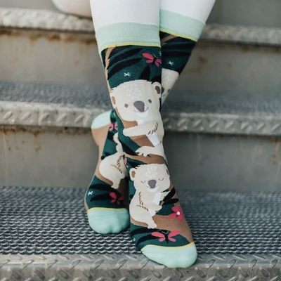 Woven Pear Over Koala-fied Socks