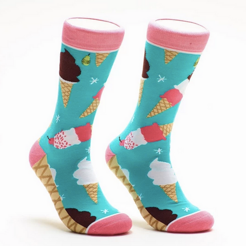 Woven Pear Ice Cream Socks