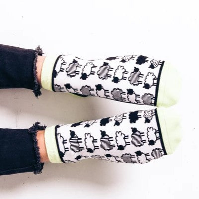 Woven Pear Black Sheep Ankle Socks