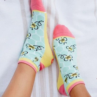 Woven Pear Bees Knees Ankle Socks
