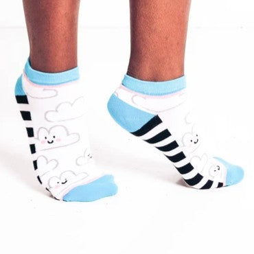 Woven Pear Happy Clouds Ankle Socks