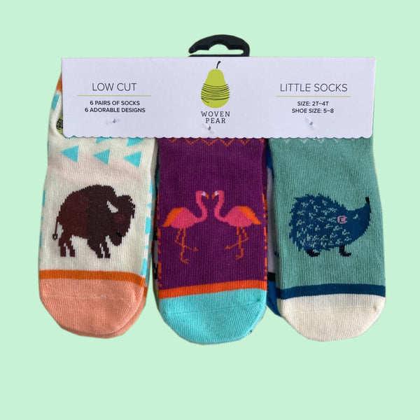 Woven Pear Little Socks (Set of Six Pairs)