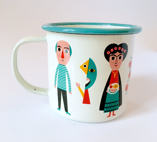 Omm Design Enamel Artists Mug