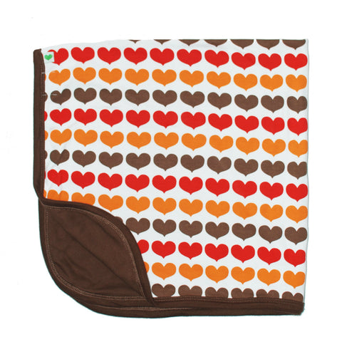 Sture & Lisa Autumn Hearts Blanket