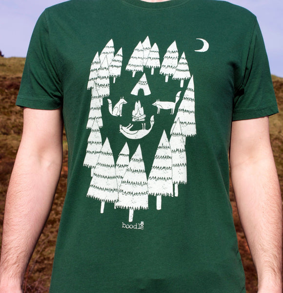 Boodle Foxes in the Forest Tee