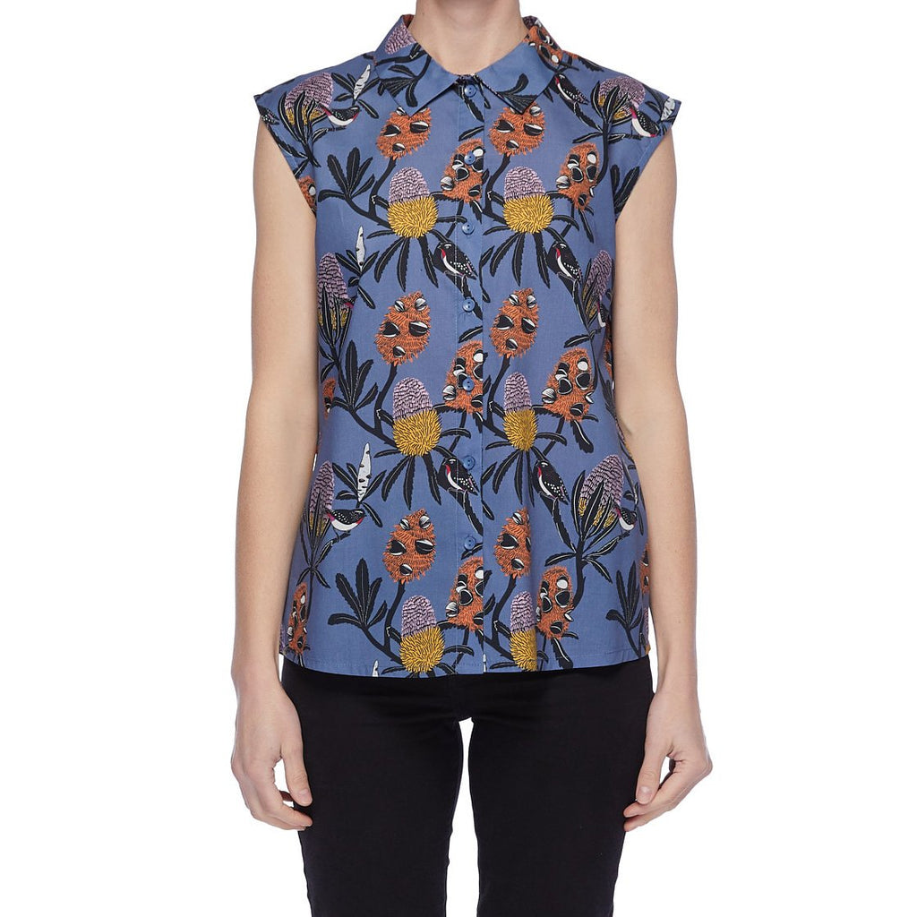 Miranda Murphy Native Flora Button Up Blouse