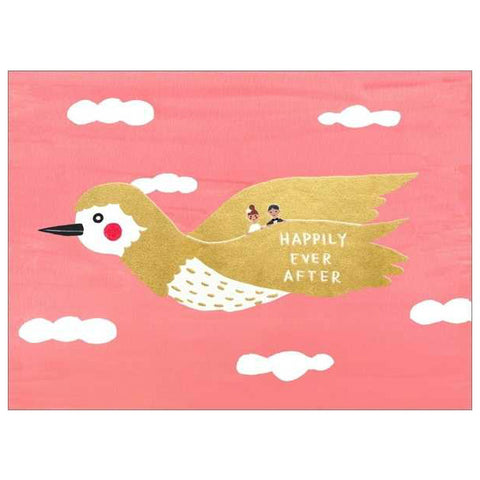 Carolyn Suzuki Golden Bird Happily Ever After Card