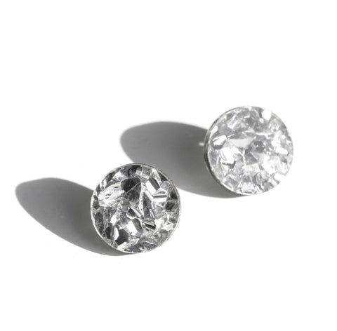 Martha Jean Silver Mini Circle Stud Earrings