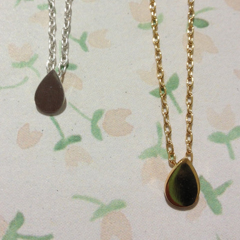 Dotty Speck Teardrop Necklace