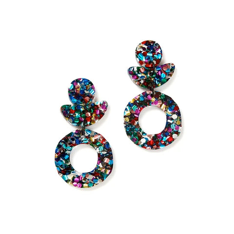 Martha Jean Dune Flower Disco Earrings