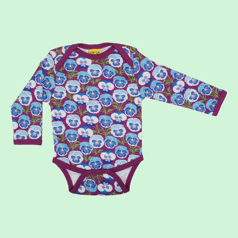 Duns Pansy Long Sleeve Bodysuit - Hyacinth Violet