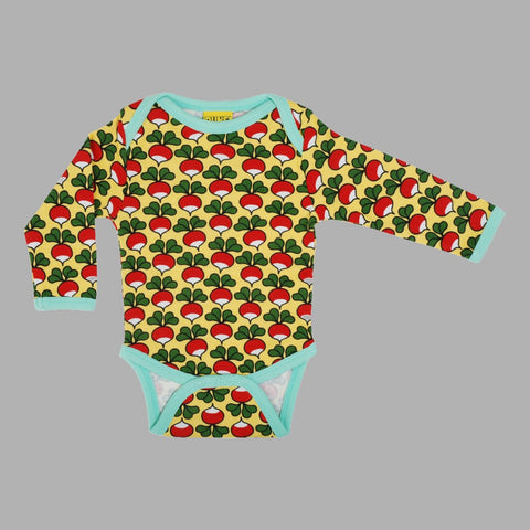 Duns Radish Long Sleeve Bodysuit - Aspen Gold
