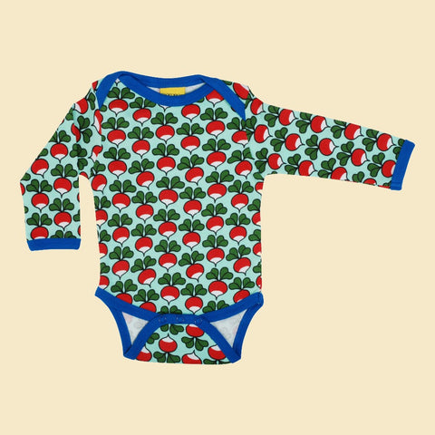 Duns Radish Long Sleeve Bodysuit - Beach Glass