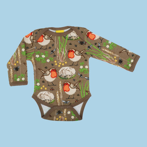 Duns Robin Long Sleeve Bodysuit - Timber Wolf