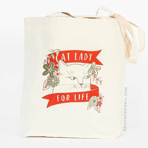 Emily McDowell Cat Lady for Life Tote