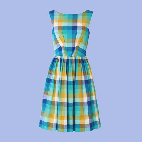 Emily & Fin Abigail Cote D'Azur Plaid Dress