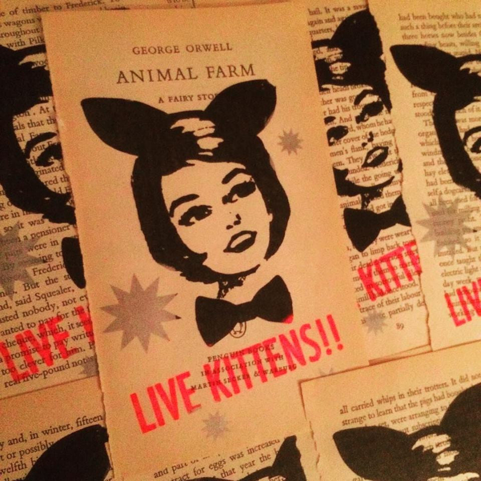 Gemma Jones Limited Edition Live Kittens! Gocco Print