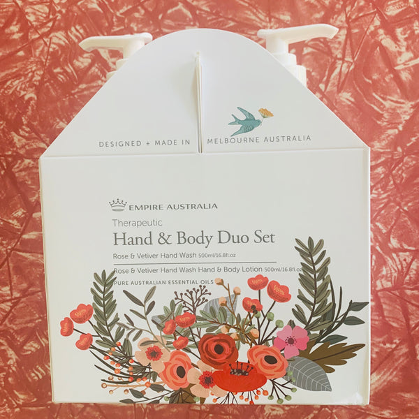 Empire Therapeutic Rose and Vetiver Hand Care Duo