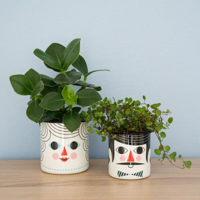 Omm Design Man & Woman Flower Pot Set