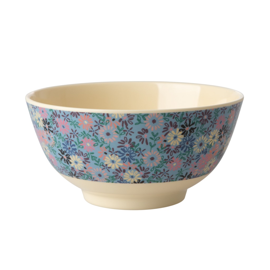 Rice Medium Melamine Bowl - Small Flower