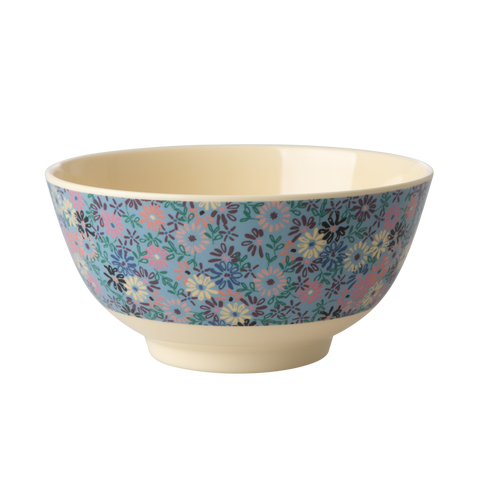 Rice Melamine Bowl - Small Flower