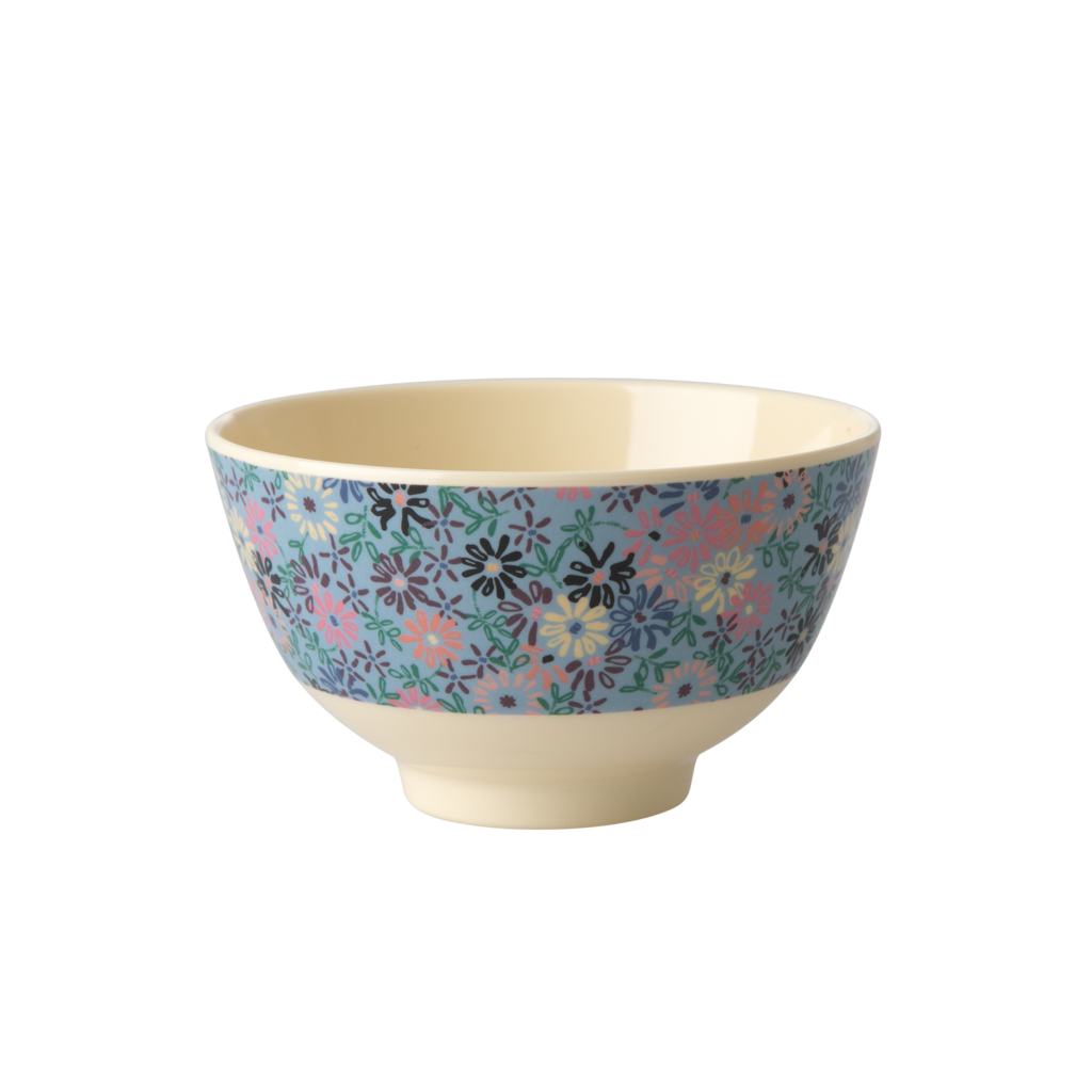 Rice Small Melamine Bowl - Small Flower
