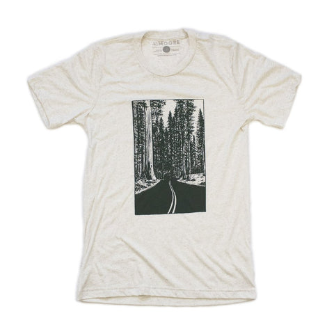 moore collection redwood forest drive tshirt