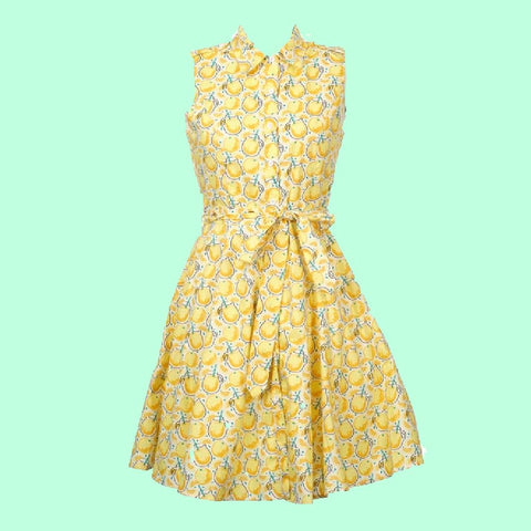 Origami Doll Lighthouse Guest Dress - Lemonade